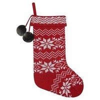 Red Knit Snowflake Fair Isle Christmas Stocking - Wondershop™