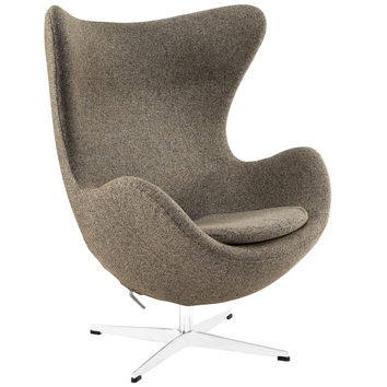 Glove Wool Lounge Chair in Oat