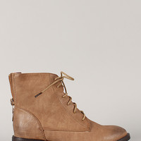 Inrrena-6 Zipper Military Lace Up Bootie