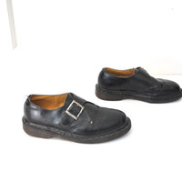 size 9 80s doc martens /  80s DOCS grunge dr marten GOTH creeper buckle loafers