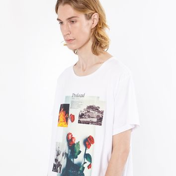 Baptized By Fire Graphic Tee in White