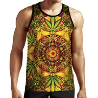 Psychedelic Weed Tank Top