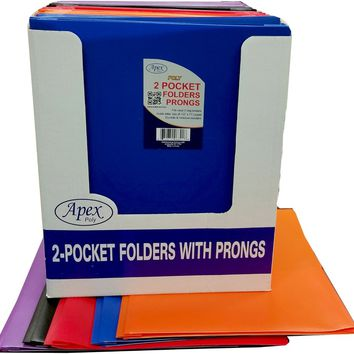 Two Pocket 3 Prong Folders Case Pack 48