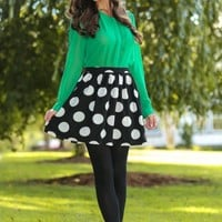 Sheer Happiness Blouse-Kelly Green