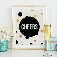 CHEERS SIGN,CHAMPAGNE Sign,Bar Decor,Birthday,Party Print,Wedding Anniversary,Celebrate,Bar Wall Art,Bar Sign,Champagne Quote,Typography Art