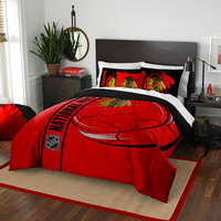 Chicago Blackhawks NHL Full Comforter Set (Soft & Cozy) (76 x 86)