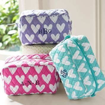 Quilted Sleepover Toiletry Bags, Sweethearts