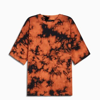 oversized box heavy tee / orange acid