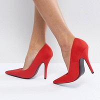 Glamorous Red Pointed Court Shoes at asos.com