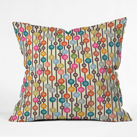 Sharon Turner Mocha Chocca Candy Bubbles Throw Pillow