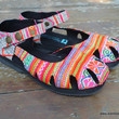 Dahlia Ethnic Hmong Soft PInk Embroidered Mary Jane Womens Shoe