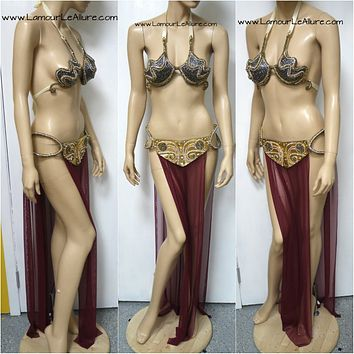 Star Wars Princess Leia Slave Diamond Samba Cage Bra