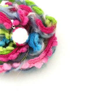 Maternity harmony bell, harmony ball, gift for pregnant woman, hand woven wool necklace, pink, fuchsia, green, light blue, light green