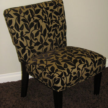 4D Concepts Exquisite Versize Accent Chair in Brown Flock