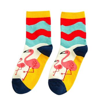 Cute Flamingo Tube Socks Funny Crazy Cool Novelty Cute Fun Funky Colorful