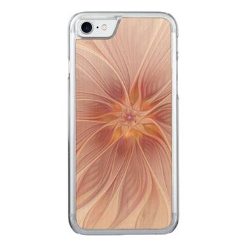 Soft Floral Summer Dream Abstract and Modern Art Carved iPhone 7 Case