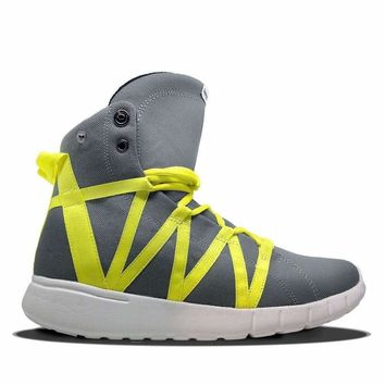 Super Freak Grey/Yellow High Top Sneaker