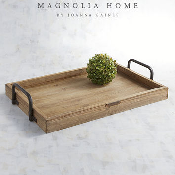Magnolia Home Wood & Metal Breakfast Tray