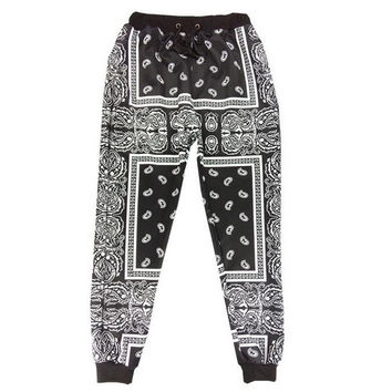 Hip Hop Harem Pants Jogging  Sweatpants Retro Emoji Sport Joggers