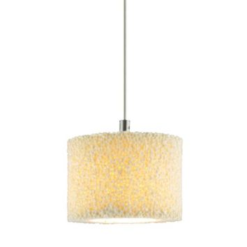 Jesco Lighting Group QAP222-CA/CH Coral Chrome Quick Adapt Mini Pendant with Ceramic Coral Shade