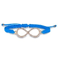 Blue infinity thread bracelet