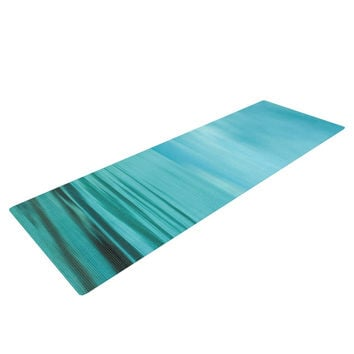 "Iris Lehnhardt ""Calm Sea"" Blue Teal Yoga Mat"