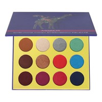 16 Colors Eyeshadow Palette Matte Shimmer Glitter Foiled Eye Shadow Makeup Kit PURPLE Giraffe Eye Pallet professional Make Up