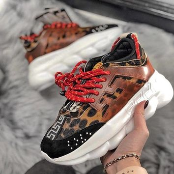 Versace Chain Reaction Fashion Casual Running Sneakers Sport Shoes