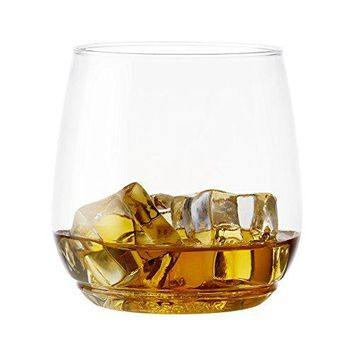 TOSSWARE 12oz Tumbler Jr  recyclable cocktail and whiskey plastic cup  SET OF 12  stemless shatterproof and BPAfree whiskey glasses