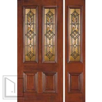 Jeld wen 110 genuine mahogany door and from us door more inc - Jeld wen exterior doors with sidelights ...