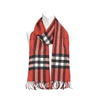 Burberry Unisex Classic Check Cashmere Scarf Red