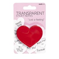 Heart Transparent Sticky Notes