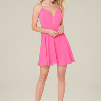 LILY CROSSBACK SKATER DRESS