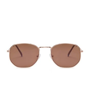 Square High-Polish Sunglasses