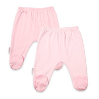 kushies® 2-Pack Solid/Stripe Footed Pants in Pink
