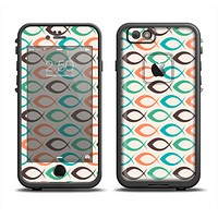 The Vintage Colored Vector Fish Icons Apple iPhone 6/6s LifeProof Fre Case Skin Set