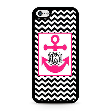 Monogram Anchor Wallpaper iPhone 5C Case