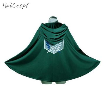 ac DCCKO2Q Attack On Titan Costume Green Cloak Japanese Anime Cosplay  Shingeki No Kyojin Hoodie Eren Levi Mikasa Cloak Scout Legion Coat
