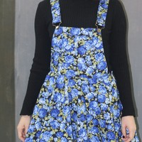 Blue Roses Pinafore