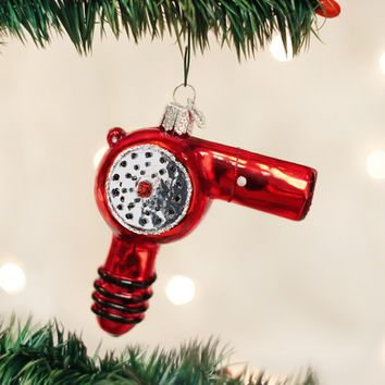 Old World Christmas Handcrafted Blown Glass Ornament -- Blow-dryer