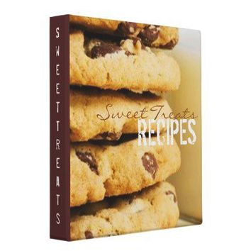 Sweet Treats Recipe Binder from Zazzle.com