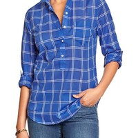 Women's Patterned 3/4-Sleeve Shirts