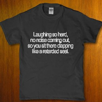 Laughing so hard no noise coming out funny unisex t-shirt