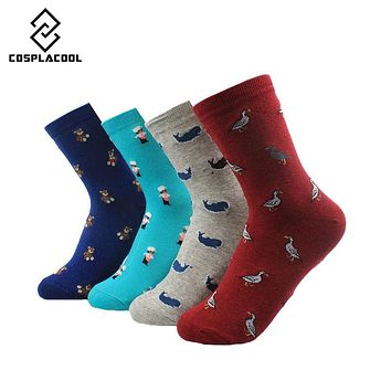 [COSPLACOOL]New Lovely Funny Cartoon Animal Cotton Socks Women Creative Cute Girls Female Soft Mieas Calcetines No Box