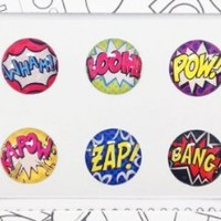 Bubble Buttons THE ORIGINAL Home Button Sticker Comics Pack of 6 iPad/iPhone/iPod