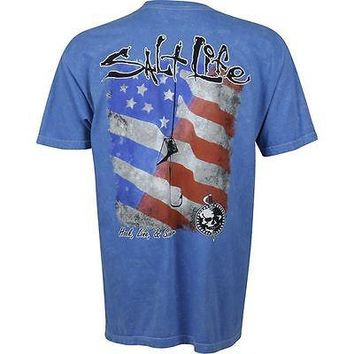 Salt Life Men's Hook Line & Sinker Flag T-Shirt