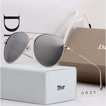 DIOR Popular Ladies Elegant Summer Sun Shades Eyeglasses Glasses Sunglasses Silver I-A-SDYJ