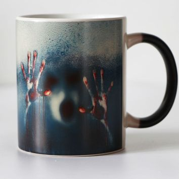 Frosted Zombie Color Changing cup Black Magic Coffee Mug