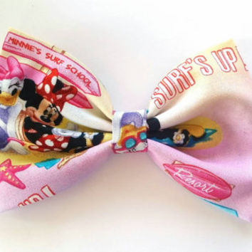 Minnie mouse and Daisy Duck hair bow / Minnie hair bow / mouse / hair bow / minnie mouse hair clip / fabric hair bow / hair bow clip / Daisy