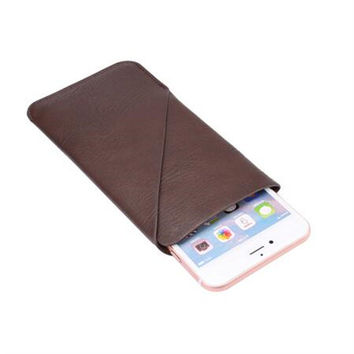 For iPhone 6 6s Leather Pouch Wallet Fashion Pull Tab Pouch Sleeve Case for Samsung Galaxy S4/S3/S2/S1 Portable Bag Men XCZ28